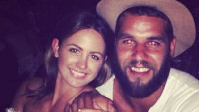 Instagram picture of Buddy Franklin and his girlfriend Jesinta Campbell enjoying his birthday in Sydney.