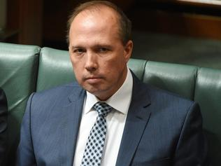Immigration Minister Peter Dutton in Question Time.