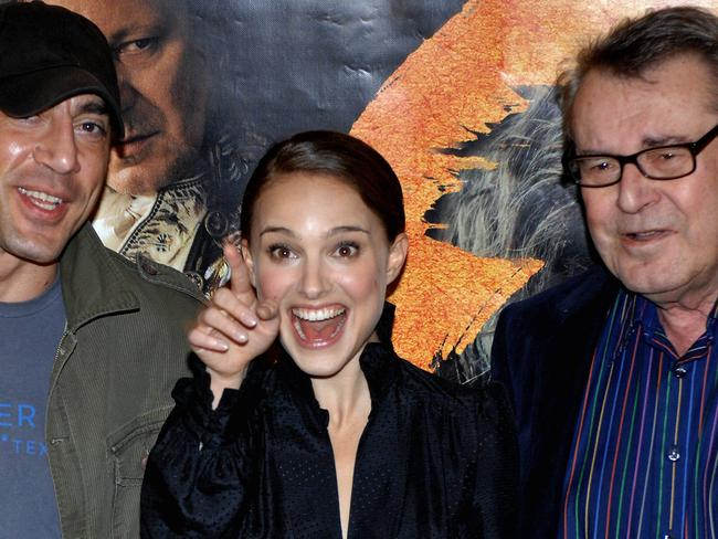 Javier Bardem, Natalie Portman and Milos Forman made Goya's Ghosts together. Picture: AFP