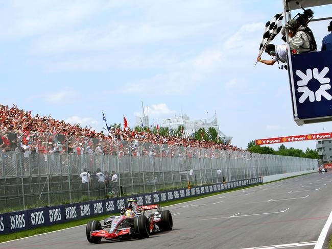 Hamilton's first F1 win came in Canada in 2007.