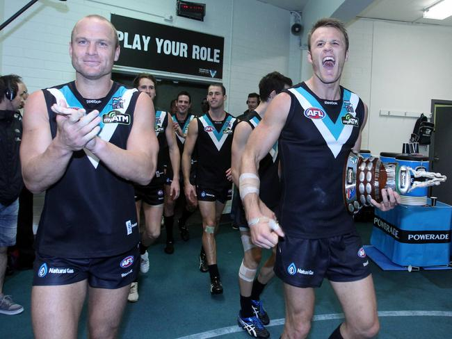 Brogan and Cornes after a Showdown victory.