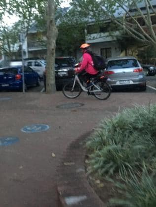 Food delivery cyclists have been spotted flouting the law in Surry Hills.