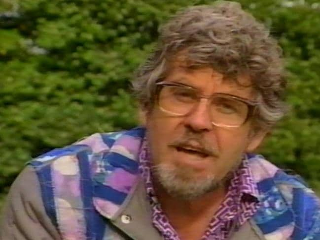 "Back then ... a still from Rolf Harris' ""Kids Can Say No"" video message. Picture: Video Education Australasia"