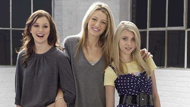 Gossip Girl stars Leighton Meester, Blake Lively and Taylor Momsen. Picture: Supplied