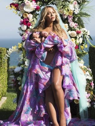 Beyonce's twins make their debut. Picture: Mason Poole/Parkwood Entertainment via AP