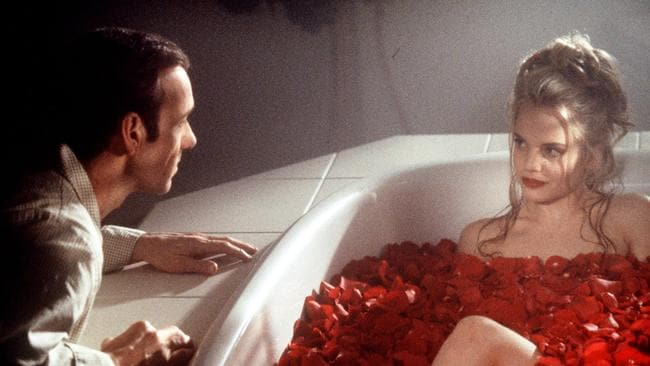 Kevin Spacey and Mena Suvari in American Beauty.