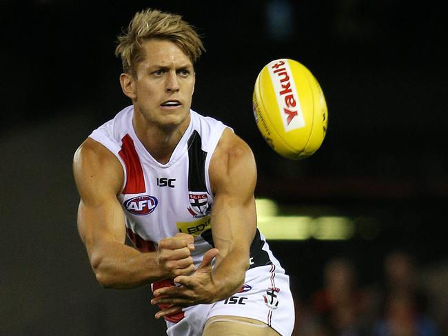 With hair like that, St Kilda's Sean Dempster could be a keen pick to take Zayn's One Direction spot.