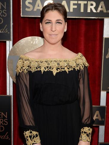 The Big Bang Theory star Mayim Bialik arrives at the 22nd Annual Screen Actors Guild Awards. Picture: Kevork Djansezian/Getty Images
