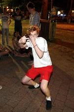 <p>School leavers from NSW and Victoria celebrate the start schoolies week in Byron Bay on the NSW far north coast.</p>