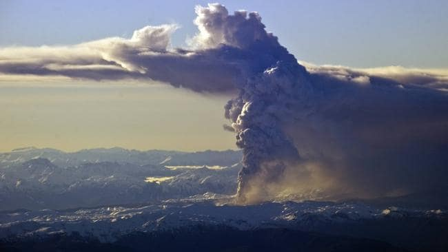 Not the first time ... ash from this Chilean eruption in 2011 disrupted flights in Australia and elsewhere.