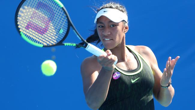 Destanee Aiava has powered her way into the Brisbane International main draw. Picture: Darren England