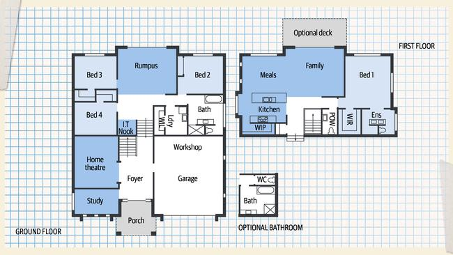 The floorplan.