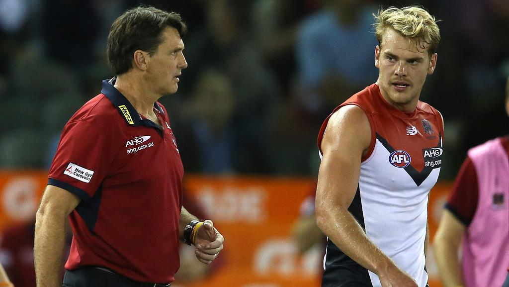 Paul Roos and Jack Watts. Photo: Wayne Ludbey.
