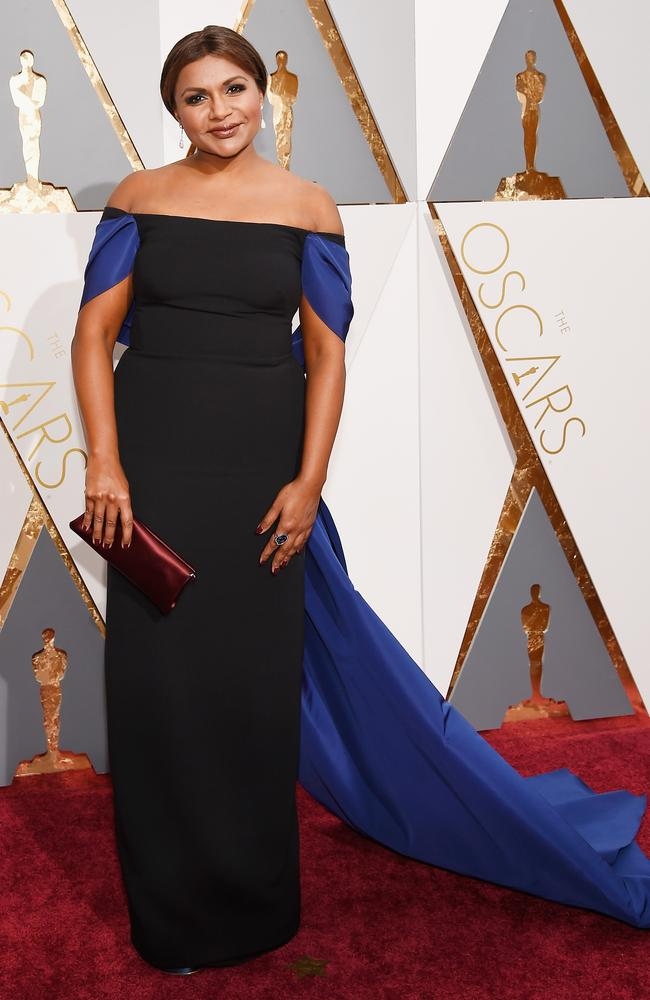 Mindy Kaling attends the 88th Annual Academy Awards on February 28, 2016 in Hollywood, California. Picture: Getty