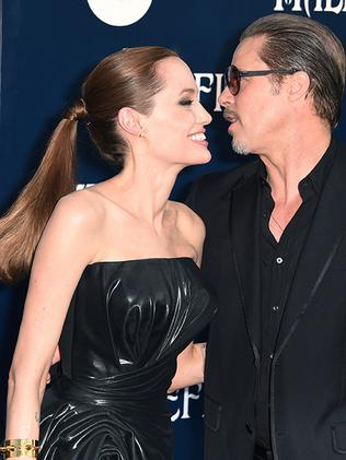 Angelina Jolie and Brad Pitt. Picture: AFP