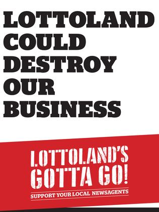 The Lottoland's gotta go! campaign has launched across news agents. Picture: Supplied