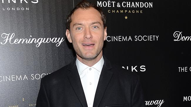 Breaking the habit ... Actor Jude Law got used to gorging on junk food. Picture: AP