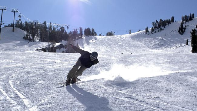 Shredding it down Broadway (it's the name of the slope).
