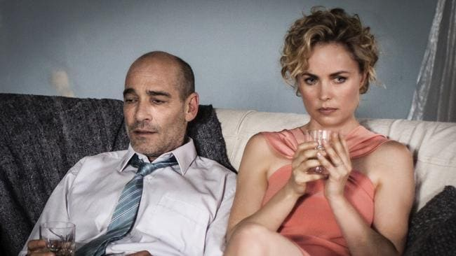 Radha Mitchell and French-American actor Jean-Marc Barr in a scene from the short film Whoever Was Using this Bed.
