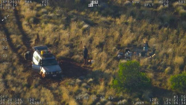 The woman and her partner were in a remote part of Western Australia and were only rescued because they had a GPS based device with a distress signal. Picture: WA Police
