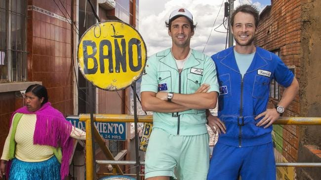 Hamish and Andy's most recent season of Gap Year saw them in South America. Picture: Nine Network.