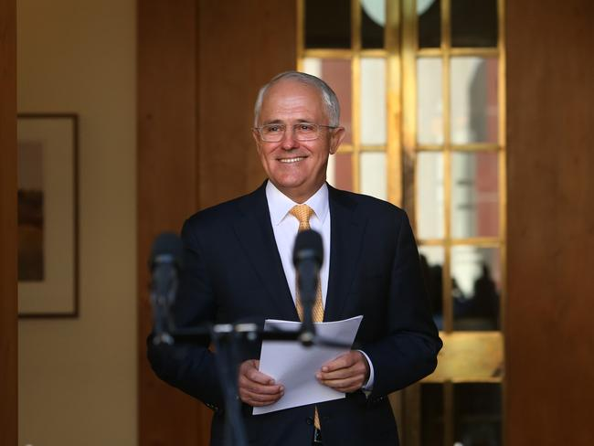 PM Malcolm Turnbull has moved the budget forward to May 3. Picture: Kym Smith.