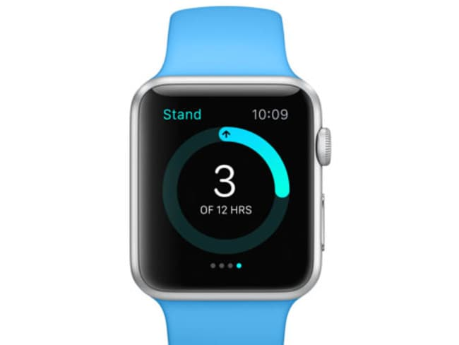 Keep fit ... The Apple Watch Sport.