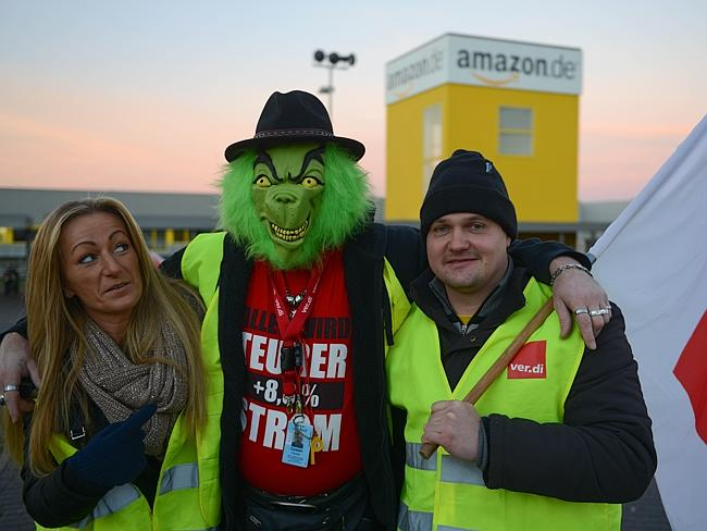 Amazon warehouse employees on strike in Germany over work conditions.