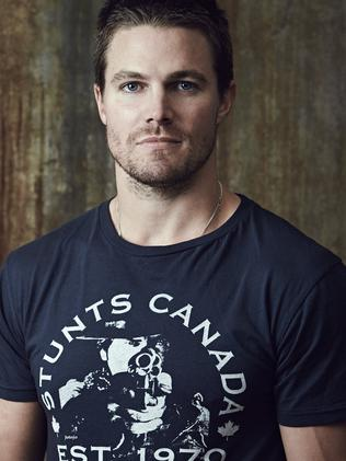 "Stephen Amell didn't anticipate starring in  <i>Arrow</i> would be ""kind of lonely because I work so much""."