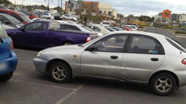 6. Someone forgot their hand break at Craigieburn. Picture: Facebook