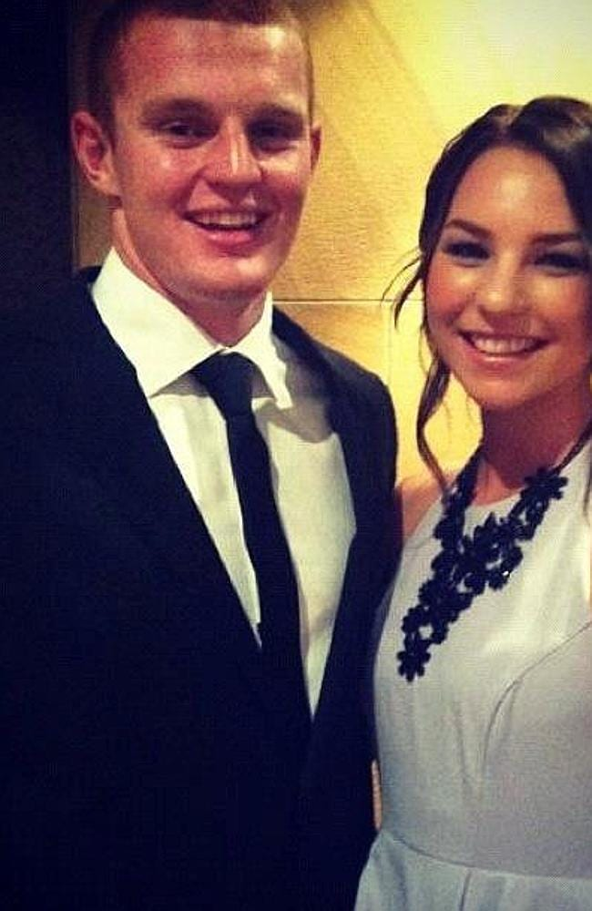 Alex McKinnon and partner Teigan Power.