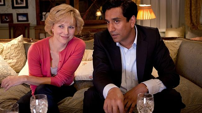 Naomi Watts in a production photo from the movie Diana pictured with Naveen Andrews. Picture: Supplied