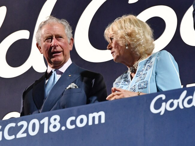 Prince Charles and Camilla, Duchess of Cornwall watch on during the opening ceremony. Photo: AAP / Darren England