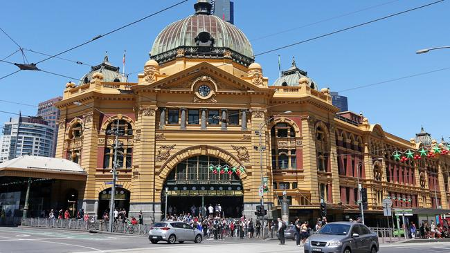 Melbourne's Flinders Street station but is in desperate need of an overhaul. Picture: Mark Stewart