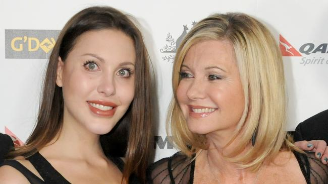 Mother and daughter ... Chloe Lattanzi and mother Olivia Newton-John pictured in 2011.