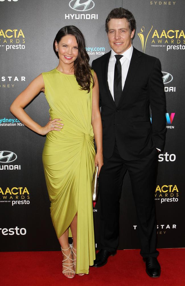 Bridgette Sneddon and Steve Peacocke arrive ahead of the 5th AACTA Awards Presented by Presto at The Star on December 9, 2015 in Sydney, Australia. Picture: Christian Gilles