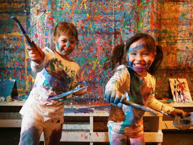 Wicked fun ... paint splatter parties are big on the North Shore. Picture: Toby Zerna