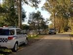 The scene outside the property at 125 Chambers rd Bruthen, eastern Victoria where a child has died from a gunshot. Picture: Greg Carter
