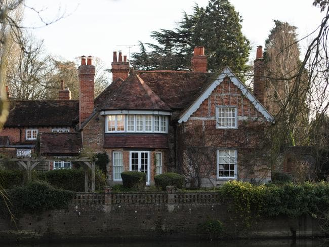 The Oxfordshire home of British pop singer George Michael where he was found dead. Picture: Carl Court/Getty Images