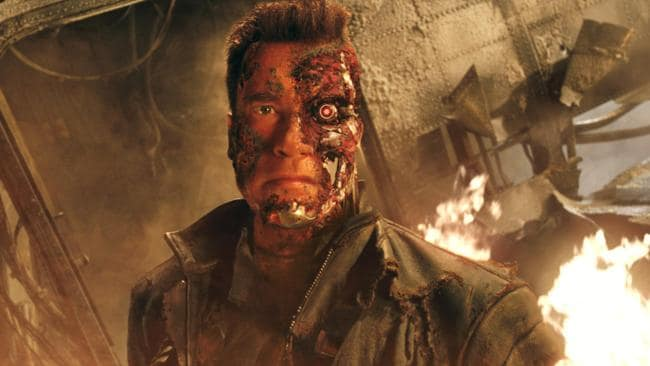 "Actor Arnold Schwarzenegger in a scene from the 2003 film ""Terminator 3: The Rise of the Machines"". Picture: Supplied"