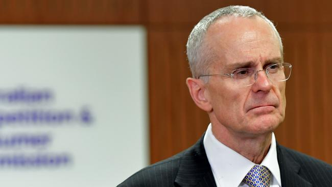 ACCC Chairman Rod Sims: The ACCC is considering fines for carmakers who don't make every effort to recall the faulty airbags. Picture: Brendan Esposito