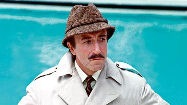 Peter Sellers in The Return of the Pink Panther, 1975.