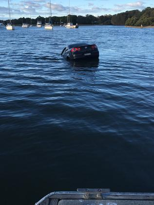 The vehicle floated away. Picture: Stuart Cooper