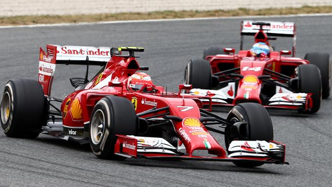 Raikkonen led in Spain, only to be foiled by a strategy change.