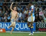 <p>Another Titanic streaker at a Gold Coast match at Skilled Park.</p>