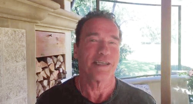 "Arnold Schwarzenegger in his Twitter video to Donald Trump: ""You take over TV, because you're such an expert in ratings, and I take over your job ..."""