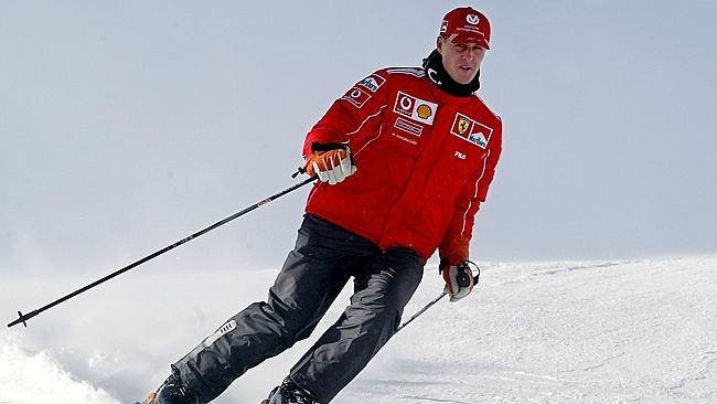 Michael Schumacher was injured in a skiing accident on December 29, 2013 in the French ski resort of Meribel. Picture: AFP