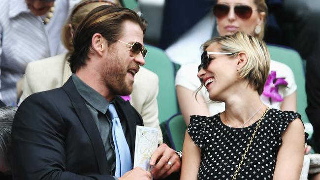 Chris Hemsworth and his wife Elsa Pataky are beyond adorable. Photo: Matthew Stockman