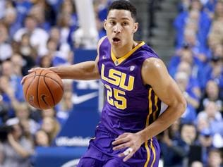 LEXINGTON, KY - MARCH 05: Ben Simmons #25 of the LSU Tigers dribbles the ball in the game against the Kentucky Wildcats at Rupp Arena on March 5, 2016 in Lexington, Kentucky. (Photo by Andy Lyons/Getty Images)