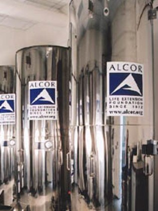 The vacuum insulated containers remain at -196°C. Picture: Alcor